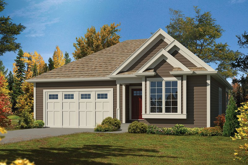 Home Plan - Ranch Exterior - Front Elevation Plan #57-647