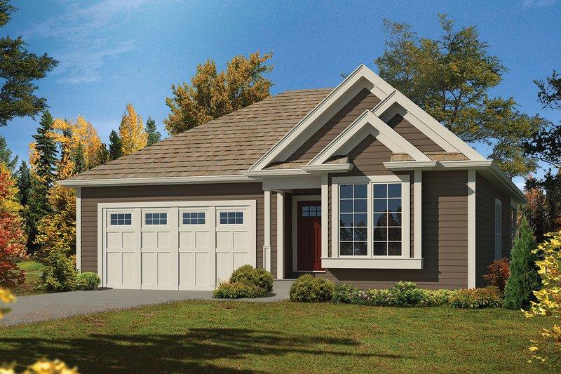 House Plan Design - Ranch Exterior - Front Elevation Plan #57-647