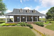 Country Style House Plan - 3 Beds 2 Baths 1716 Sq/Ft Plan #44-196 Exterior - Front Elevation