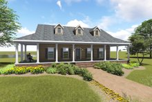 House Plan Design - Country Exterior - Front Elevation Plan #44-196