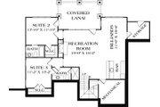 Craftsman Style House Plan - 3 Beds 4 Baths 2764 Sq/Ft Plan #453-11 Floor Plan - Lower Floor Plan
