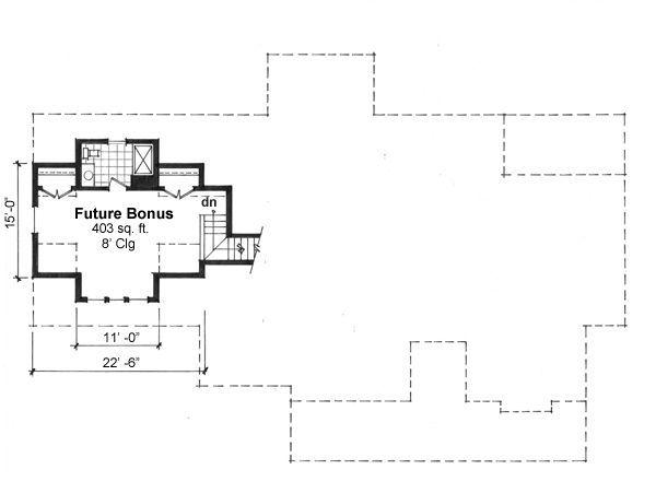 Craftsman Floor Plan - Other Floor Plan #51-550