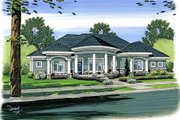 Mediterranean Style House Plan - 2 Beds 2.5 Baths 2863 Sq/Ft Plan #455-103 Exterior - Front Elevation