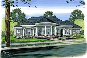 Mediterranean Exterior - Front Elevation Plan #455-103