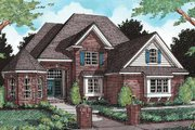 European Style House Plan - 4 Beds 4.5 Baths 3397 Sq/Ft Plan #20-300 Exterior - Front Elevation