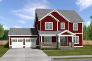 Traditional Style House Plan - 3 Beds 2.5 Baths 2935 Sq/Ft Plan #497-20 Exterior - Front Elevation