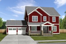 Dream House Plan - Craftsman house front elevation option 2
