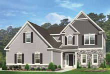 Colonial Exterior - Front Elevation Plan #1010-150