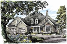 Architectural House Design - Traditional Exterior - Front Elevation Plan #929-792