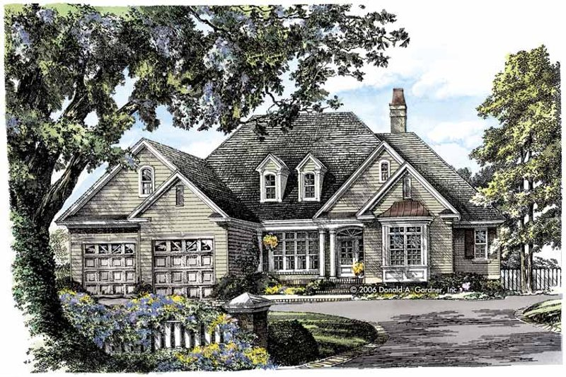 Traditional Exterior - Front Elevation Plan #929-792 - Houseplans.com
