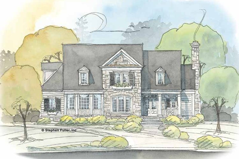 Country Exterior - Front Elevation Plan #429-372