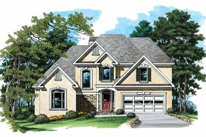 Mediterranean Exterior - Front Elevation Plan #927-159 - Houseplans.com