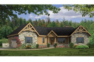 Dream House Plan - Craftsman Exterior - Front Elevation Plan #314-270