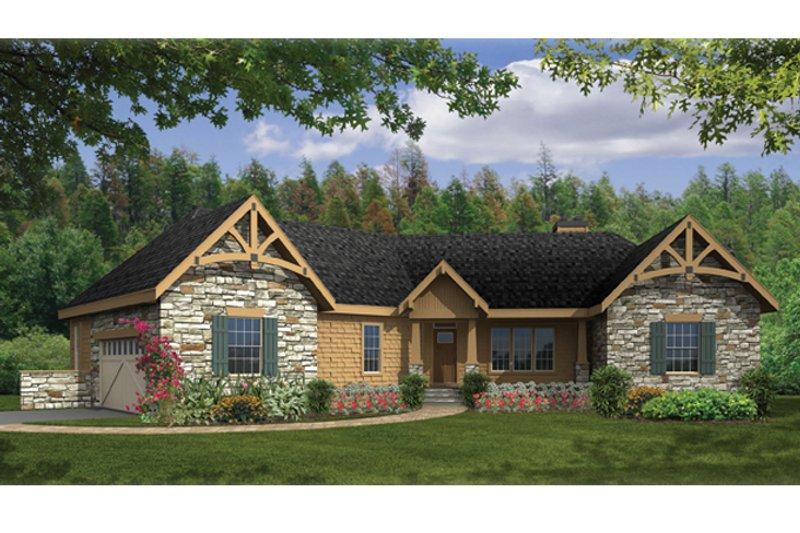 Architectural House Design - Craftsman Exterior - Front Elevation Plan #314-270