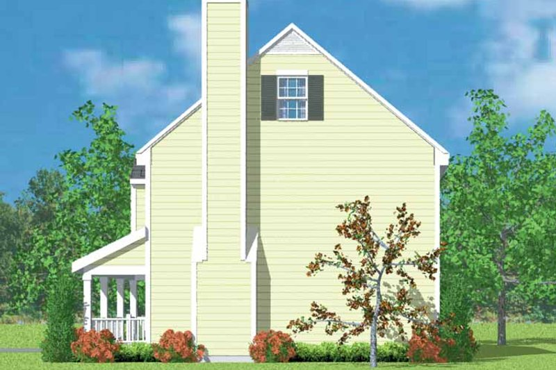 Country Exterior - Other Elevation Plan #72-1086 - Houseplans.com
