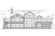 Traditional Style House Plan - 4 Beds 4.5 Baths 2573 Sq/Ft Plan #5-302 Exterior - Rear Elevation