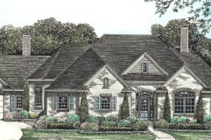 European Exterior - Front Elevation Plan #20-131