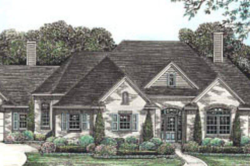 Dream House Plan - European Exterior - Front Elevation Plan #20-131