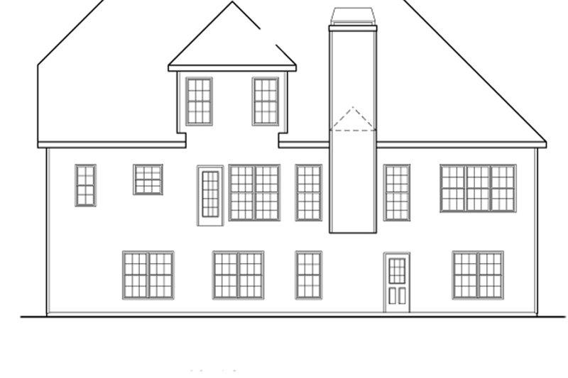 Country Exterior - Rear Elevation Plan #927-468 - Houseplans.com