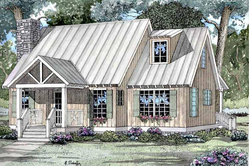 Architectural House Design - Craftsman Exterior - Front Elevation Plan #17-3046