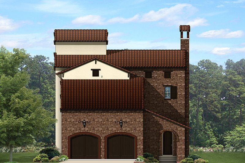 Architectural House Design - Mediterranean Exterior - Front Elevation Plan #1058-152