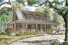 Architectural House Design - Country Exterior - Front Elevation Plan #923-30