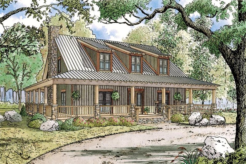 Country Style House Plan - 4 Beds 3.5 Baths 3380 Sq/Ft Plan #923-30 Exterior - Front Elevation