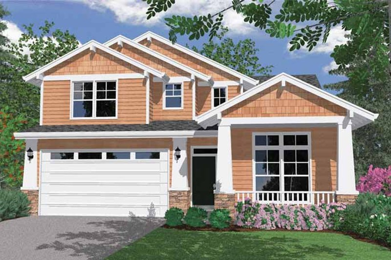 Craftsman Exterior - Front Elevation Plan #509-314