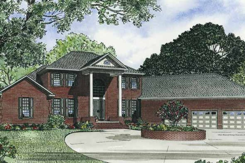 Classical Exterior - Front Elevation Plan #17-2769