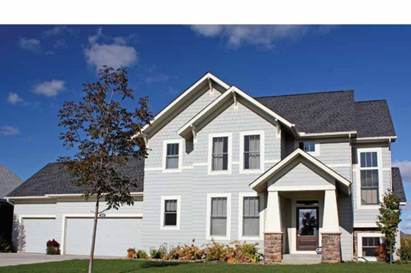 Craftsman Exterior - Front Elevation Plan #51-1100
