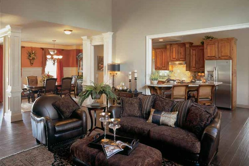 Country Interior - Family Room Plan #927-287 - Houseplans.com