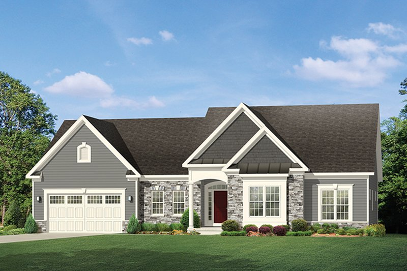 Ranch style house plan 3 beds 2 5 baths 2006 sq ft plan for Rambler house vs ranch house