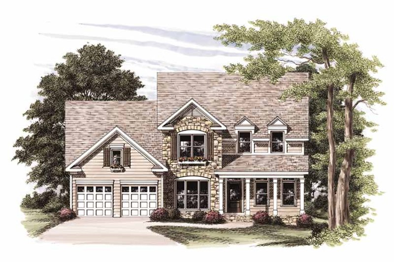 Country Exterior - Front Elevation Plan #927-754