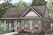 Home Plan - Country Exterior - Front Elevation Plan #17-3209