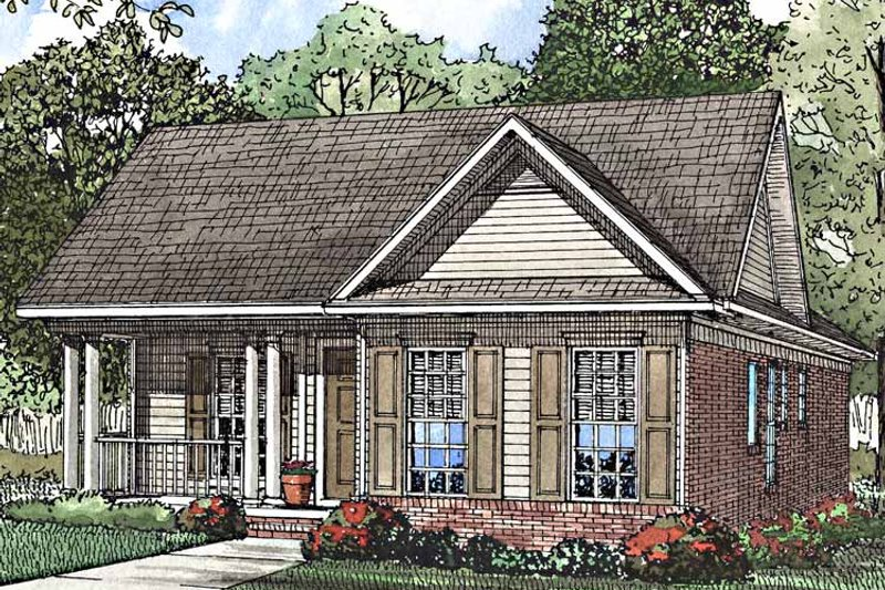 Country Exterior - Front Elevation Plan #17-3209 - Houseplans.com