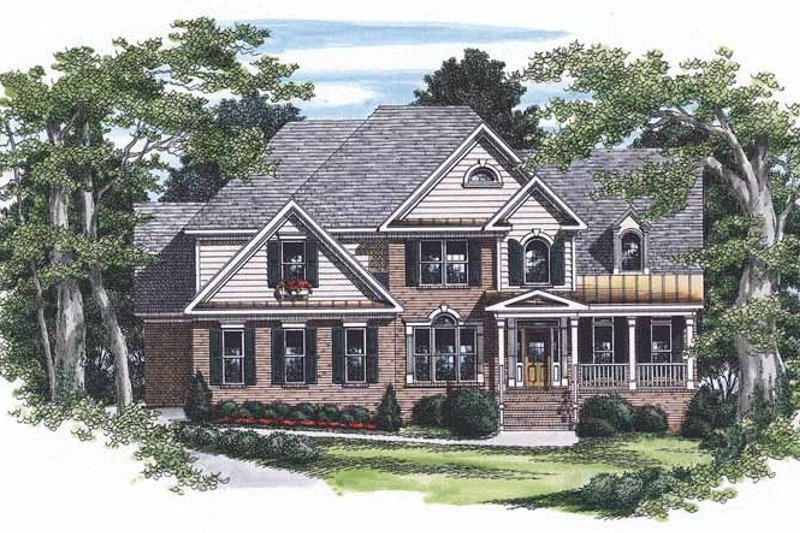 Traditional Style House Plan - 4 Beds 4.5 Baths 2752 Sq/Ft Plan #927-170 Exterior - Front Elevation