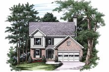 Colonial Exterior - Front Elevation Plan #927-209
