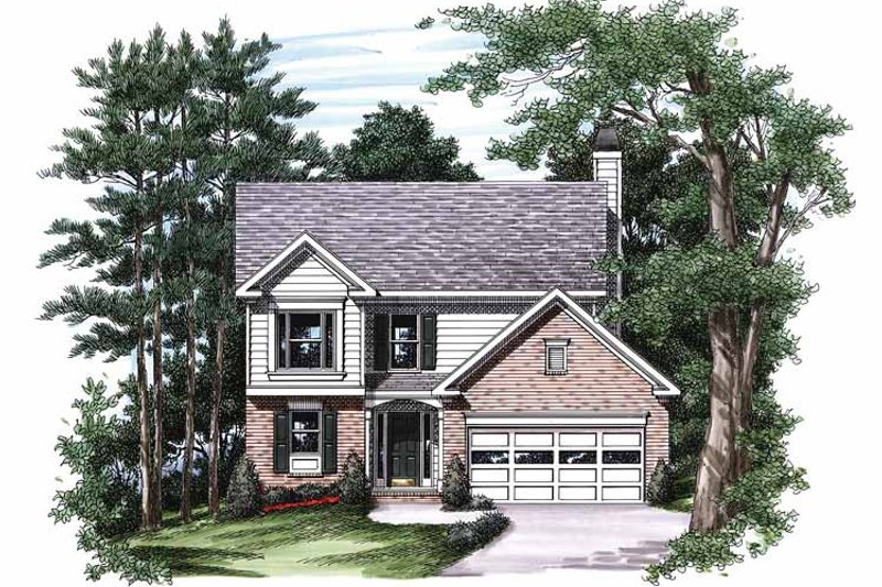 Colonial Exterior - Front Elevation Plan #927-209 - Houseplans.com
