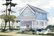 Craftsman Style House Plan - 2 Beds 1.5 Baths 1429 Sq/Ft Plan #928-174 Exterior - Front Elevation