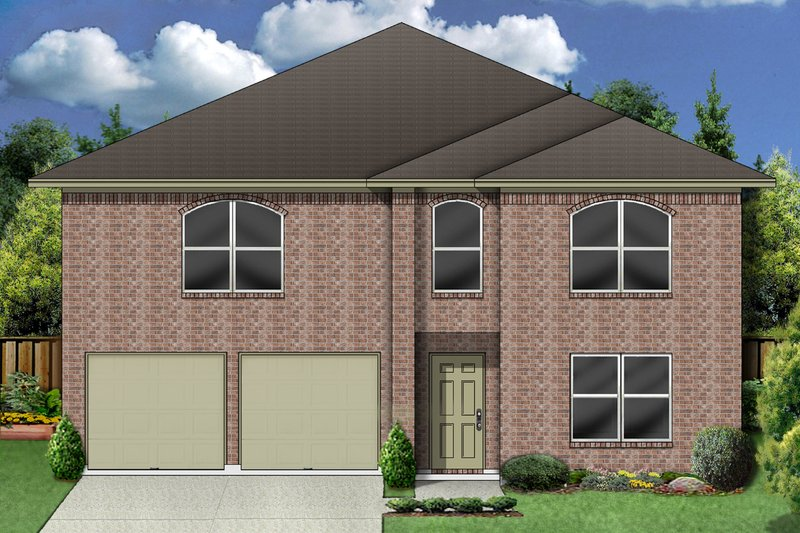 Architectural House Design - Traditional Exterior - Front Elevation Plan #84-385