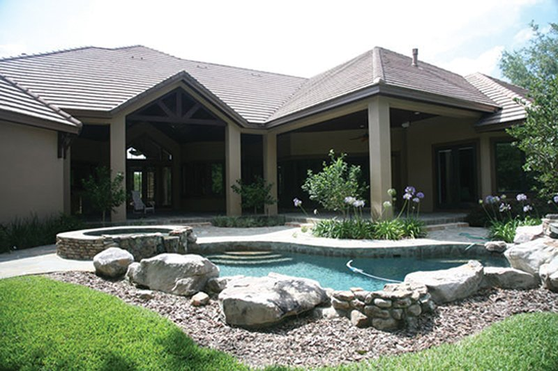 Contemporary Exterior - Rear Elevation Plan #417-814 - Houseplans.com