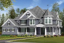 Architectural House Design - Victorian Exterior - Front Elevation Plan #132-481