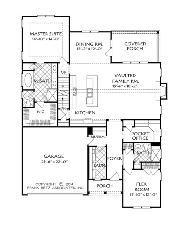 European Floor Plan - Main Floor Plan Plan #927-965