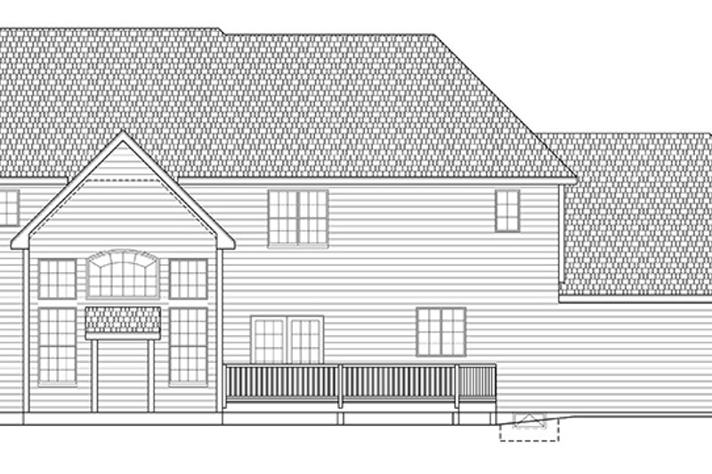 Traditional Exterior - Rear Elevation Plan #328-465 - Houseplans.com