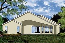 House Plan Design - Mediterranean Exterior - Rear Elevation Plan #417-850