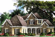 Country Exterior - Front Elevation Plan #952-179