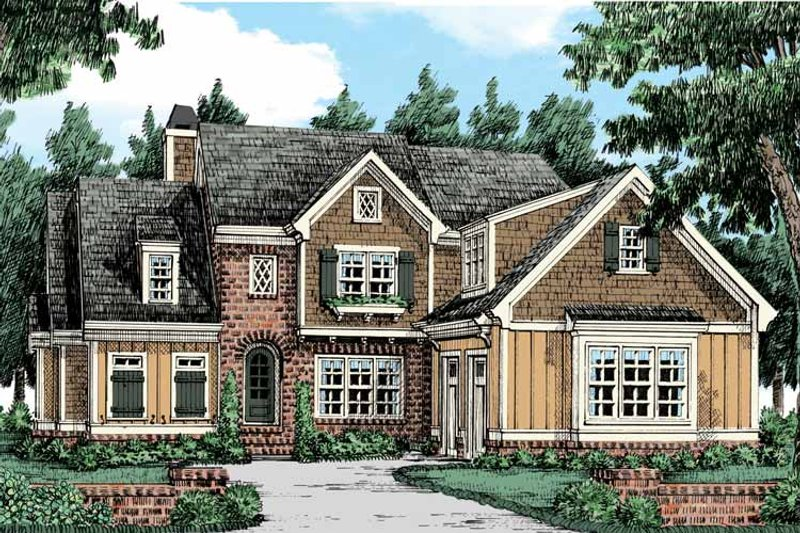 Colonial Exterior - Front Elevation Plan #927-441 - Houseplans.com