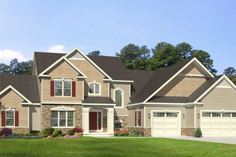 House Plan Design - Traditional Exterior - Front Elevation Plan #1010-97
