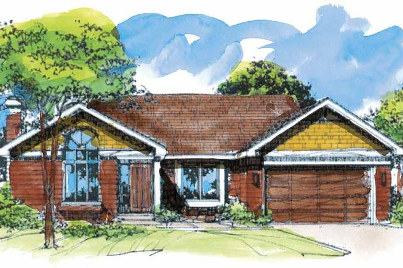 Traditional Exterior - Front Elevation Plan #320-1505 - Houseplans.com