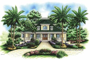 Architectural House Design - Southern Exterior - Front Elevation Plan #1017-57